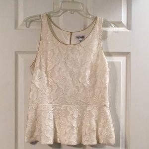 Women's Express Lace Peplum Sleeveless Top sz M